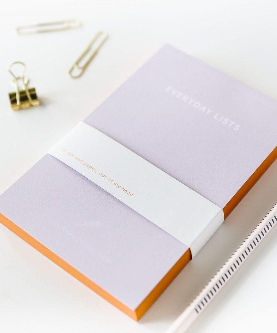EVERYDAY LIST - A JOURNAL, Notebook, ame bordeaux, carnet, boutique bordeaux, carnets